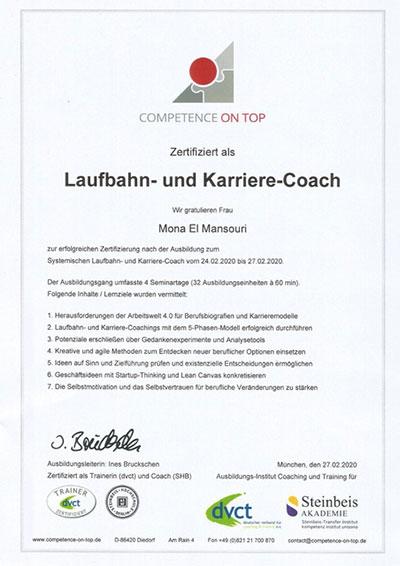 Karriere coach und Laufbahncoach