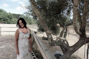 Fotoshooting lachende Frau